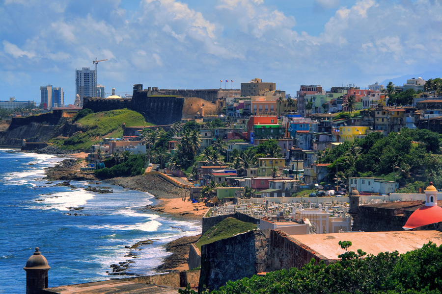 Photograph of La Perla, a neighborhood in San Juan, Puerto Rico