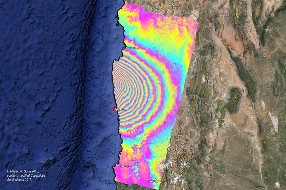 Chile earthquake interferogram
