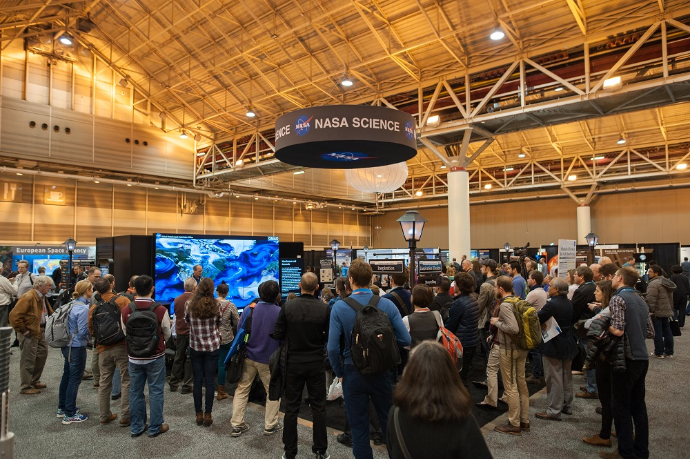 Image of NASA Booth at 2017 AGU Fall Meeting.