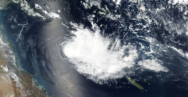 Tropical Cyclone Owen on 3 December 2018 (Suomi-NPP/VIIRS)