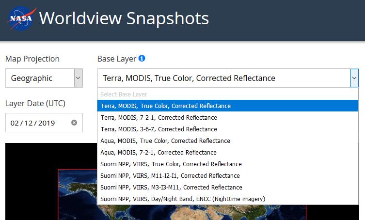 Worldview Snapshots base layers