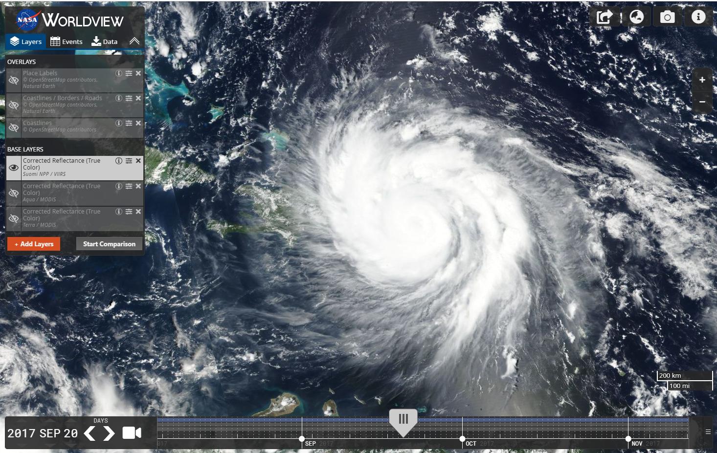 Hurricane Maria in Worldview
