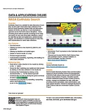 Earthdata Search one pager