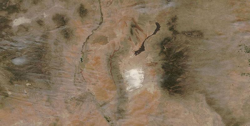 White Sands National Monument, New Mexico on 28 April 2019 (Terra/MODIS)