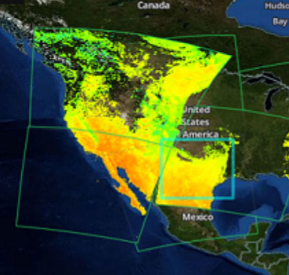 Screenshot of Earthdata Search showing western US and precipitation data.