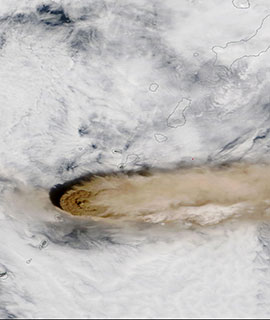 Eruption of Raikoke Volcano on 22 June 2019 (Terra/MODIS)