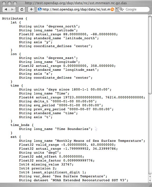 OPeNDAP API 5