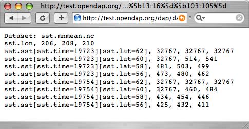 OPeNDAP API 7
