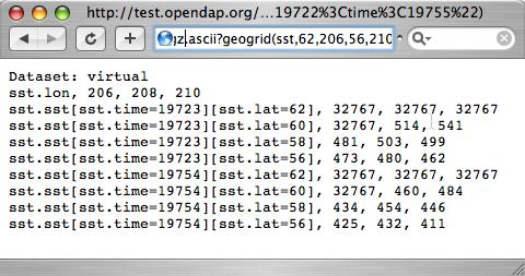 OPeNDAP API 8