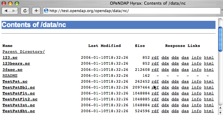 OPeNDAP API 12