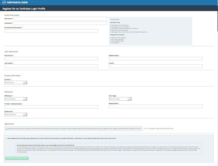 Earthdata Login API 2