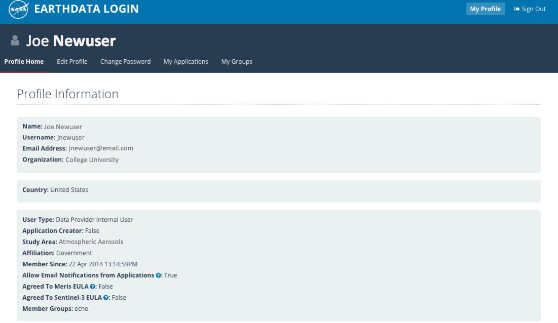 Earthdata Login API 5