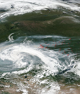 Fires in Russia on 21 July 2019 (Suomi-NPP/VIIRS)