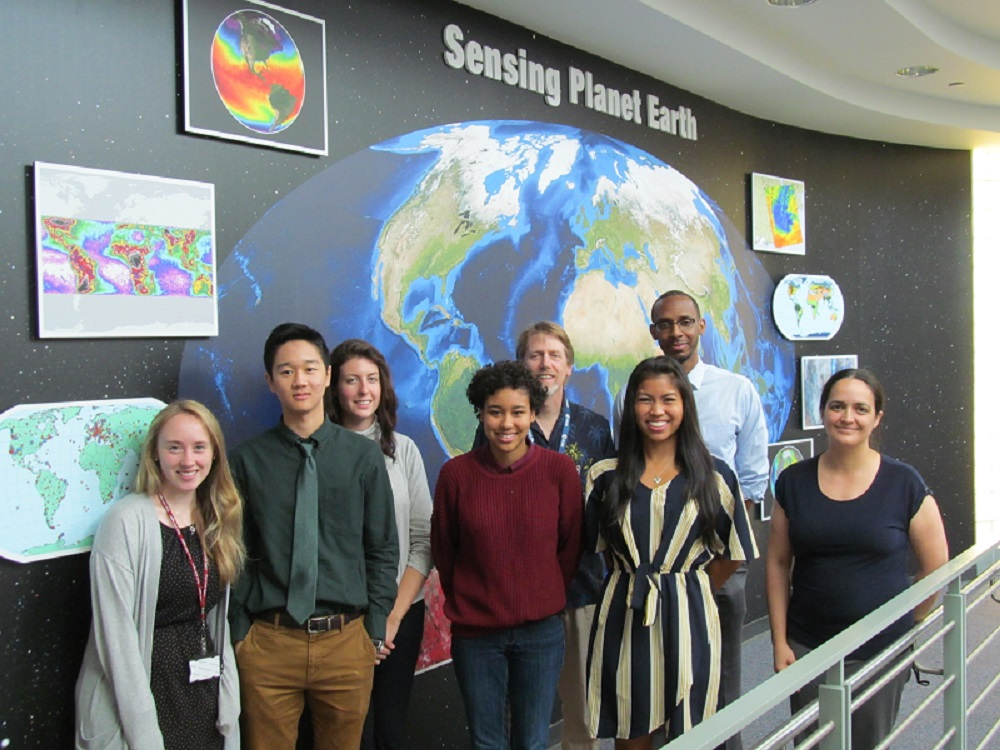 Image of the five summer interns supporting the ESDIS Project Office and their mentors.