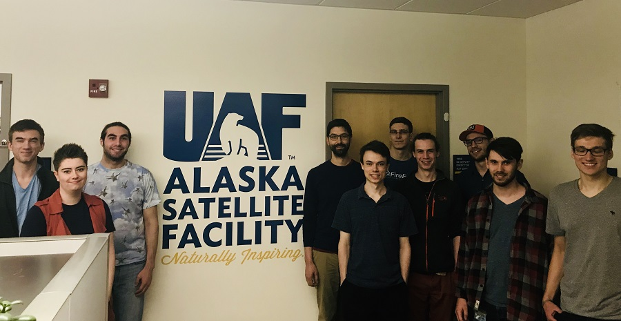 Image of the 12 NASA summer interns supporting the Alaska Satellite Facility.