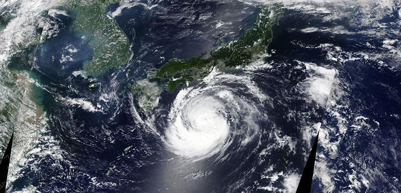 Tropical Storm Francisco on 5 August 2019 (MODIS/Terra)