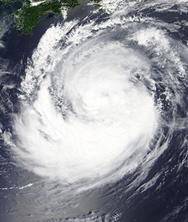 Tropical Storm Francisco on 5 August 2019 (MODIS/Terra)