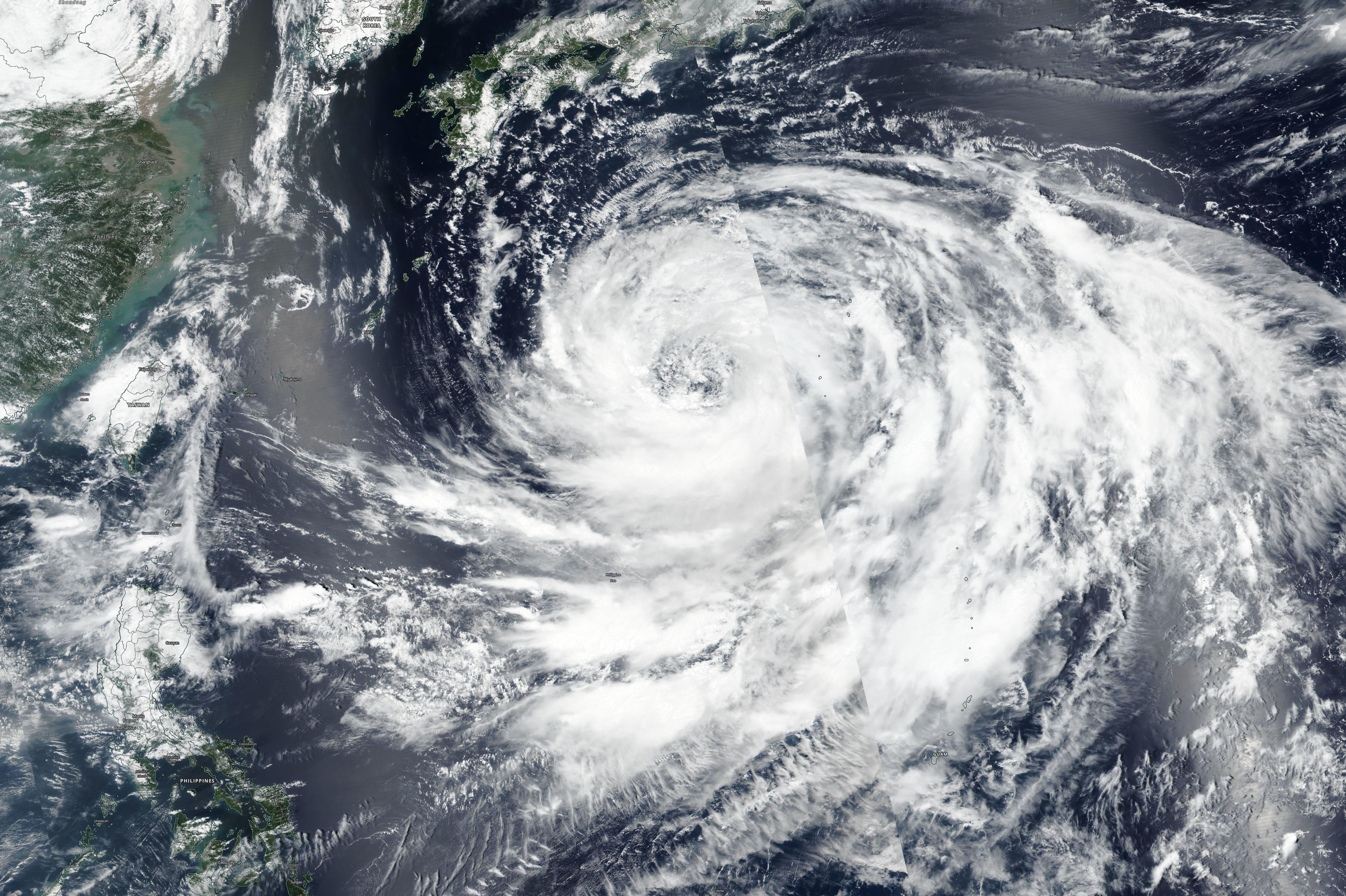 Typhoon Krosa in the Philippine Sea