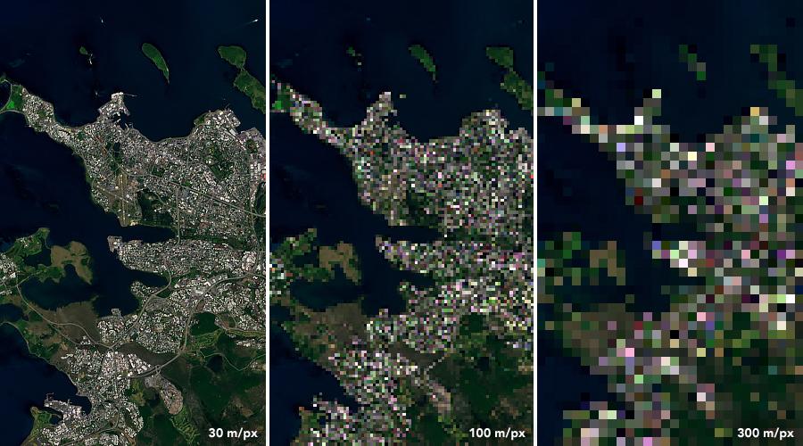 Landsat 8 data from July 7, 2019 over Reykjavík, Iceland.