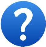 Help icon with question mark in blue circle.