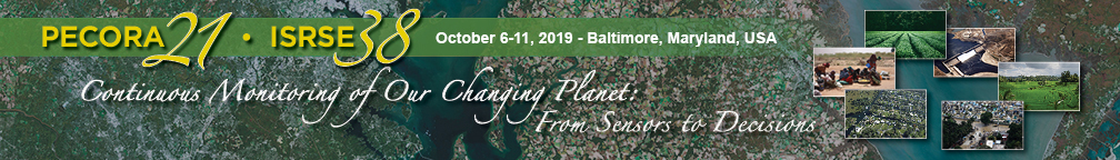 Logo for the joint Pecora/ISRSE Meeting in Baltimore, MD, October 6-11, 2019