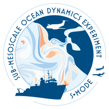 Logo of the Sub-Mesoscale Ocean Dynamics Experiment (S-MODE)
