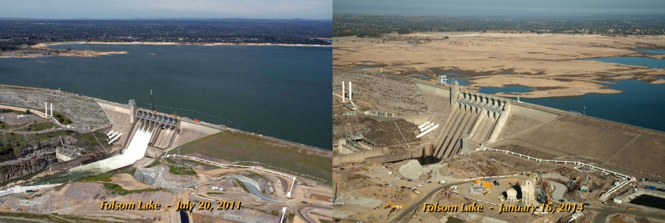 The severity of California's 2014 drought is illustrated in these images of Folsom Lake, a reservoir in Northern California. NASA and California are collaborating to use NASA Earth observation assets to help the state better manage its water resources and monitor and respond to the ongoing drought.