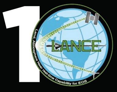 Logo comprising the number 10 made of the number 1 and the LANCE logo being used to represent