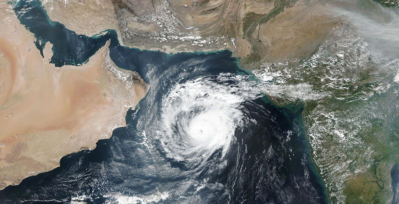 Tropical Cyclone Maha in the Arabian Sea on 4 November 2019 (Suomi-NPP/VIIRS)