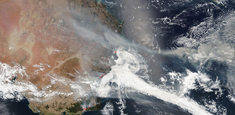 New South Wales Fires on 22 December 2019 (Suomi-NPP/VIIRS)