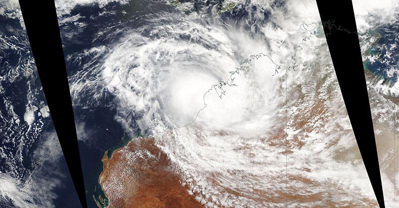 Tropical Cyclone Blake on 6 January 2020 (Aqua/MODIS)