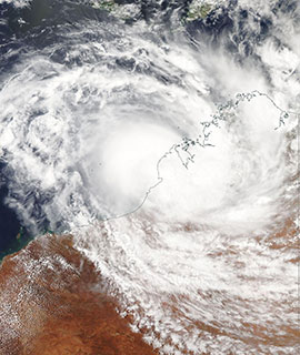 Tropical Cyclone Blake on 6 January 2020 (Aqua/MODIS)