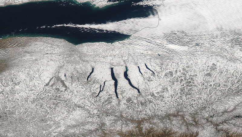 Finger Lakes, New York (Aqua/MODIS)