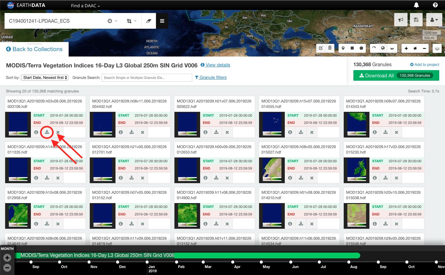 Earthdata Search Single Granule 3