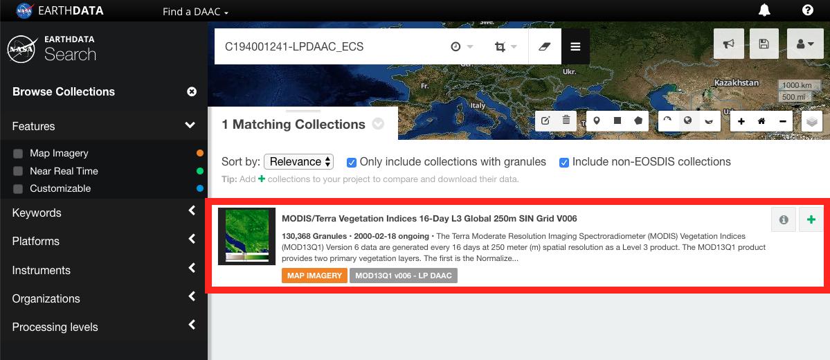 Earthdata Search Single Granule 1