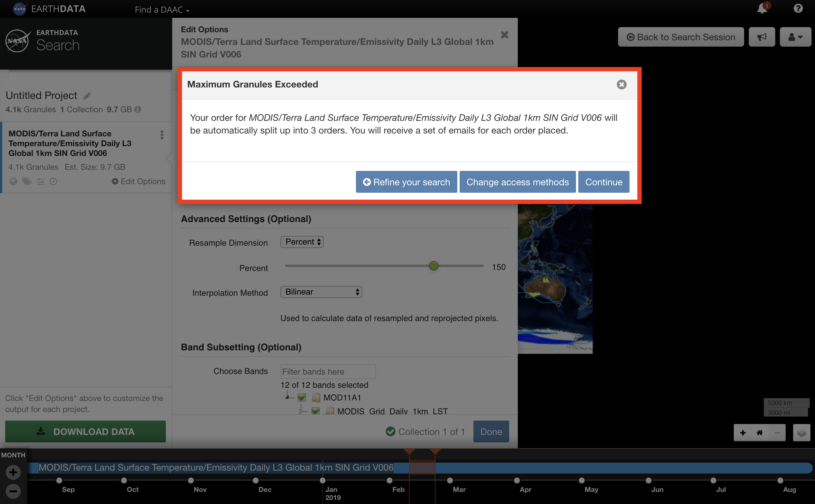 Earthdata Search Custom 10