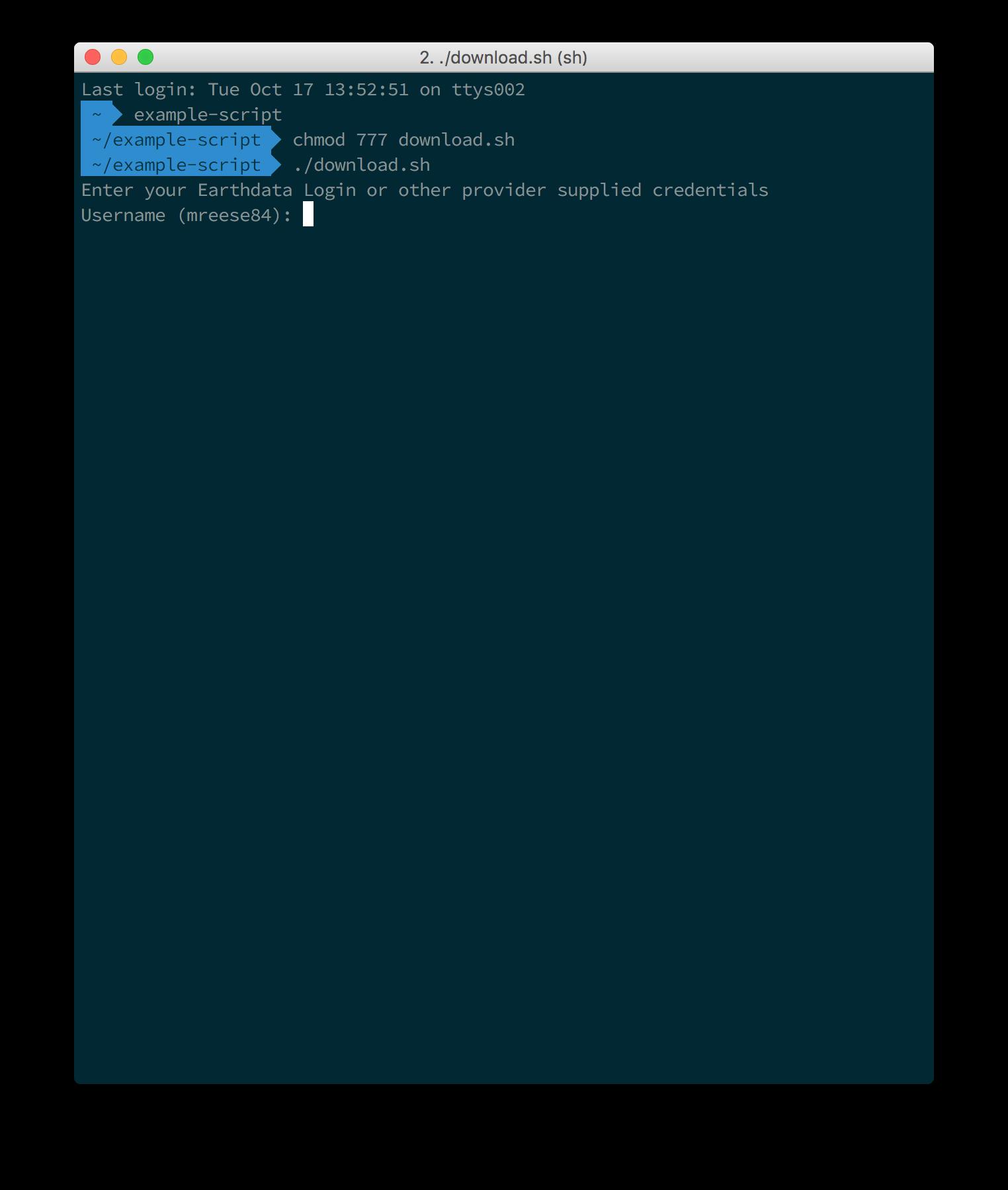 Earthdata Search Download Access Script 2