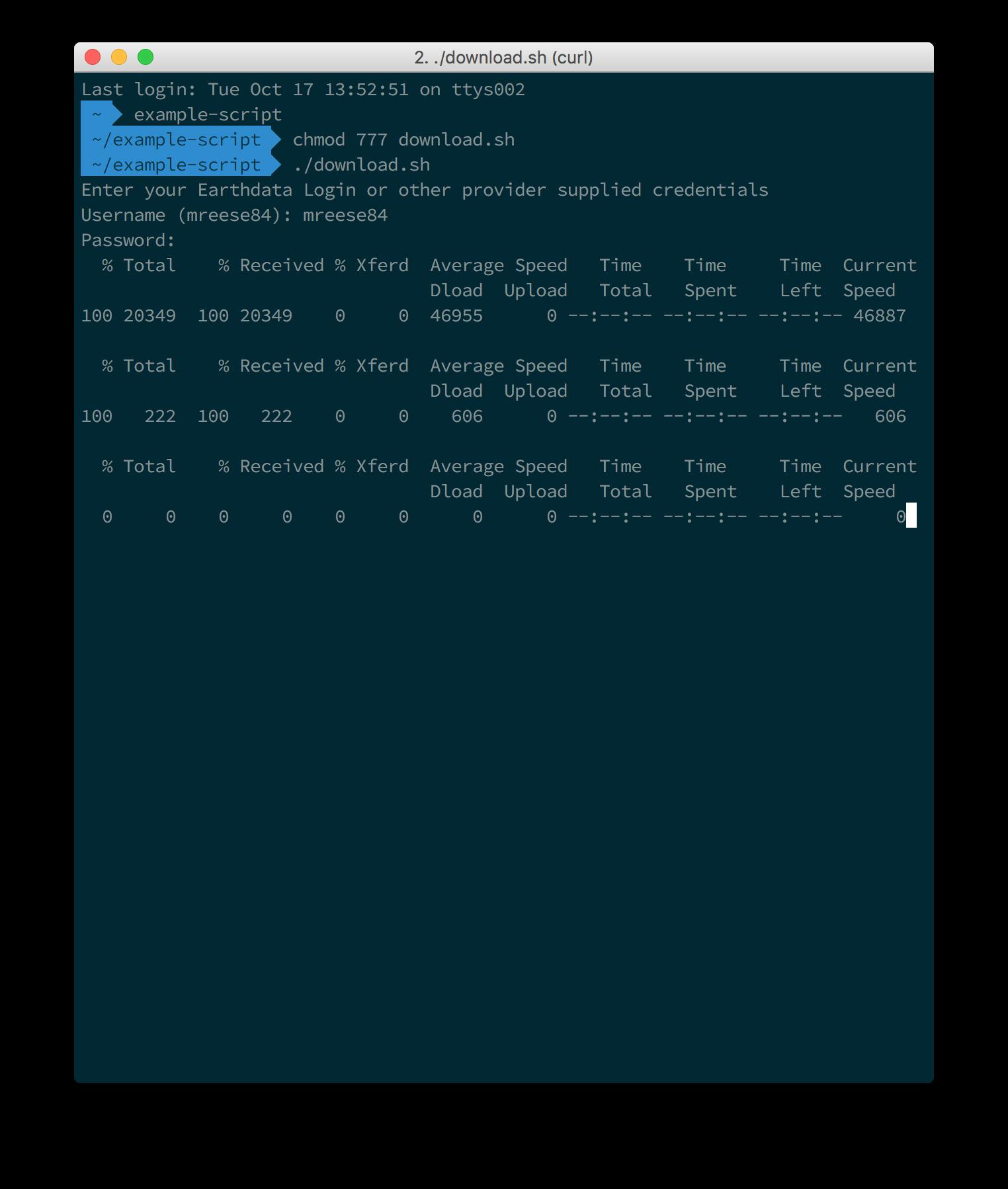 Earthdata Search Download Access Script 3