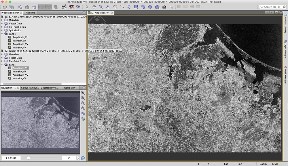 Screenshot of the Sentinel-1 toolbox