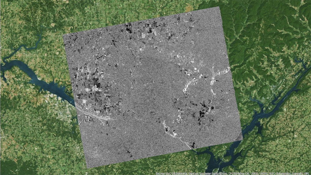 Log-ratio image with the ArcMap Imagery basemap
