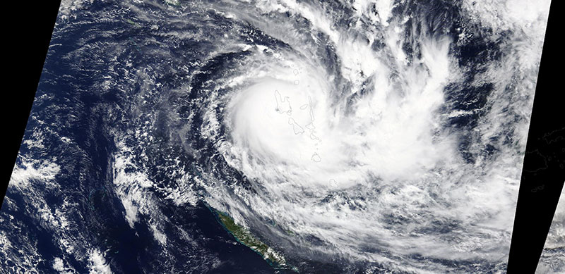 Tropical Cyclone Harold on 6 April 2020 (Terra/MODIS)