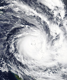 Tropical Cyclone Harold on 6 April 2020 (Terra/MODIS) - Feature Grid