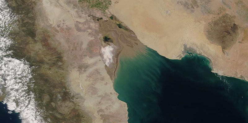 Colorado River Delta on 12 April 2020 (MODIS/Terra)
