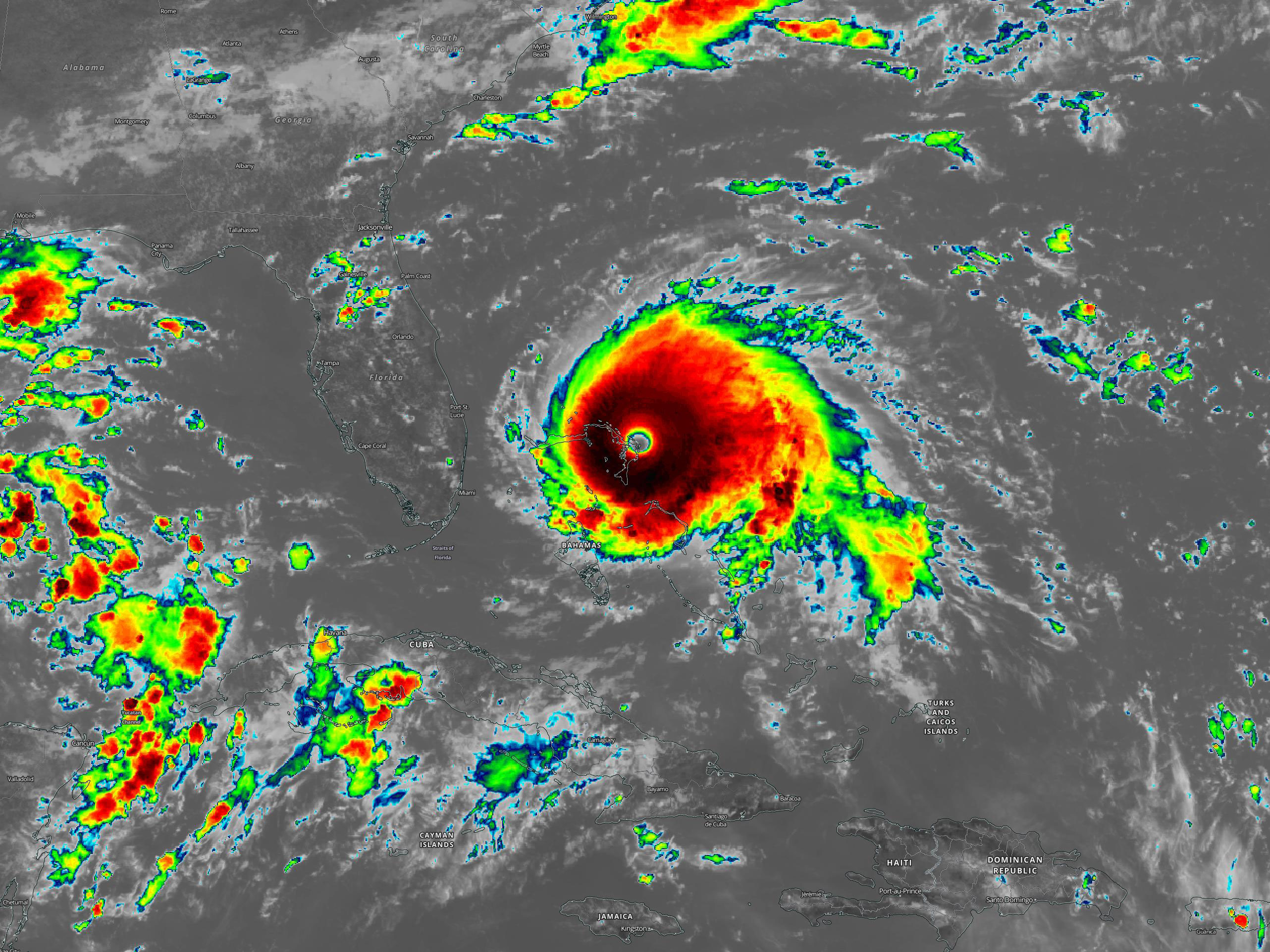 Hurricane Dorian on 1 September 2019