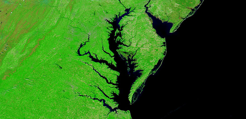 Chesapeake Bay on 10 May 2020 (Aqua/MODIS)