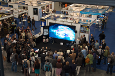 NASA Hyperwall at the 2013 AGU Fall Meeting. Image courtesy of NASA.