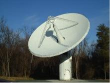 NASA's 12 meter VLBI system detects radio signals from quasars in deep space. Image courtesy: NASA GGAO.