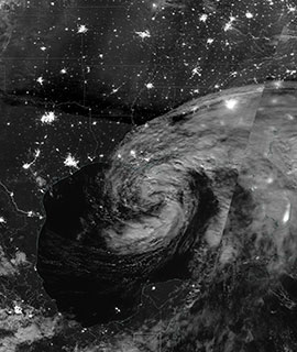 Tropical Storm Cristobal at Night on 7 June 2020 (Suomi NPP/VIIRS)