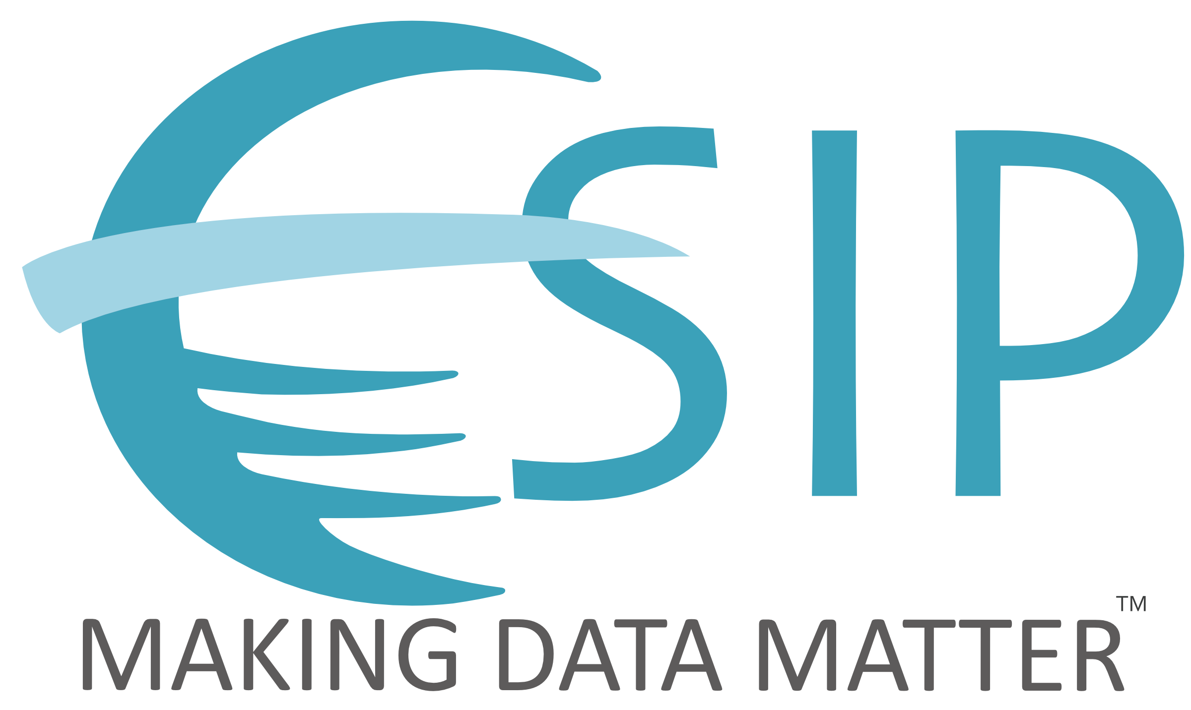 "Stylized letter ""E"" and letters ""SIP"" in blue with the words ""Making Data Matter"" underneath."