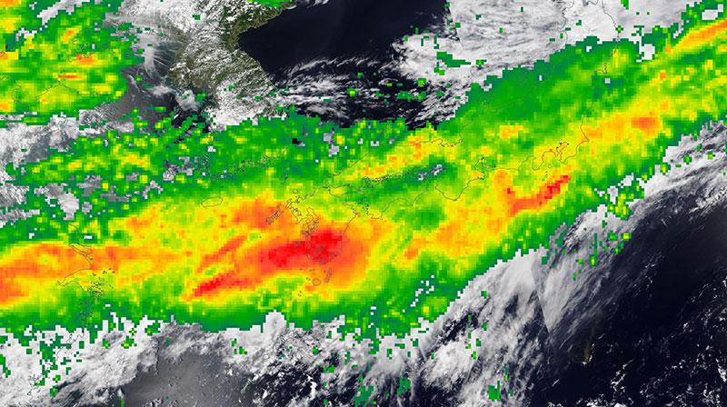 Heavy Rains over Kyushu Island, Japan on 5 July 2020 (IMERG)